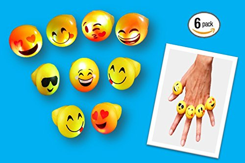 Play Kreative EMOJI Flashing LED Light Up Blinking Rings - PlayKreative.com