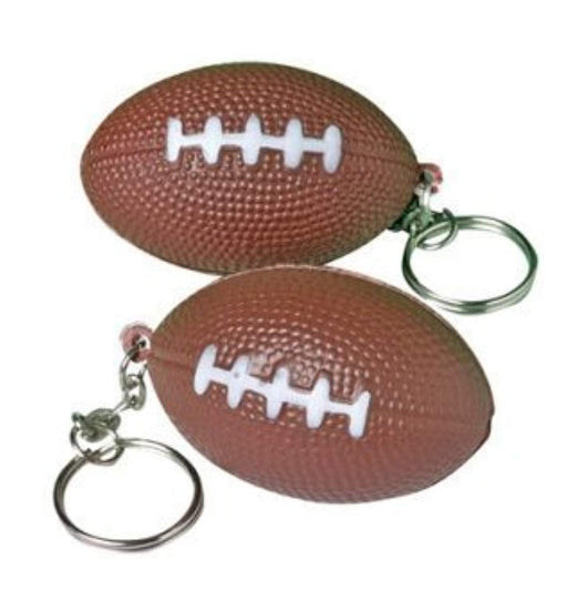 Foam Football Key Chains ~ Pack of 24