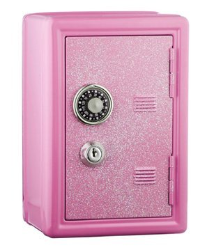 Glitter Safe Bank - Mini Locker with Glitter - Kids Storage Locker (Pink) - PlayKreative.com