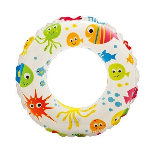 "Intex Lively Fish Print Inflatable Swim Ring / Pool Tube / Raft 20"" ~ - PlayKreative.com"