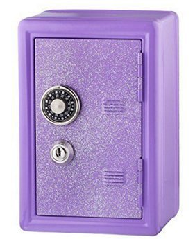 Glitter Safe Bank - Mini Locker with Glitter - Kids Storage Locker (Lavender) - PlayKreative.com