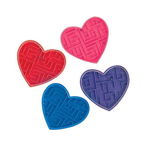 Valentines Day Heart Maze Puzzles - Pack of 72