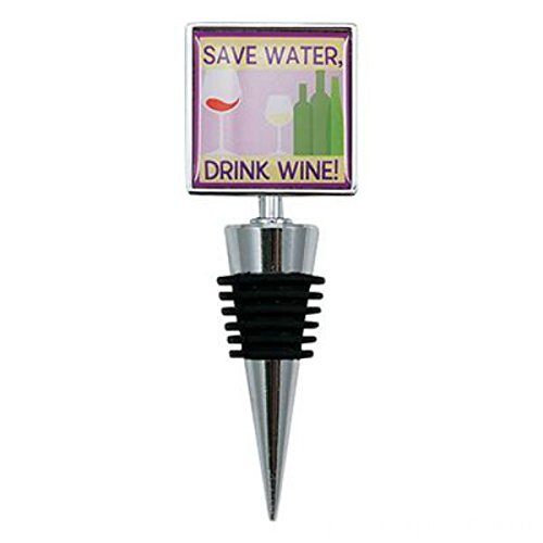 Wine Bottle Stoppers Gift (Save Water Drink Wine) - PlayKreative.com
