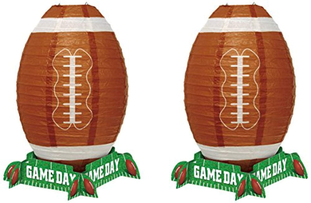 Football Lantern Centerpiece - Pack of 2
