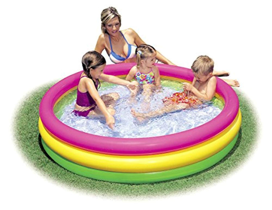 Intex Kiddie Pool - Kid's Summer Sunset Glow Design