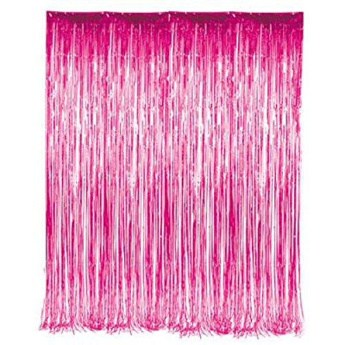Pink Tinsel Foil Fringe Curtain - Play Kreative TM - PlayKreative.com