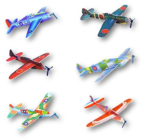 Flying Glider Foam Planes - 48 Pk - Play Kreative Tm - PlayKreative.com