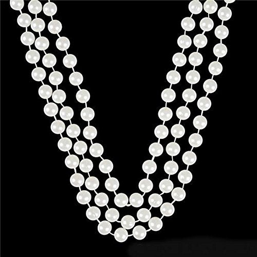 White Faux Pearl Necklaces -12 pk- Play Kreative TM - PlayKreative.com