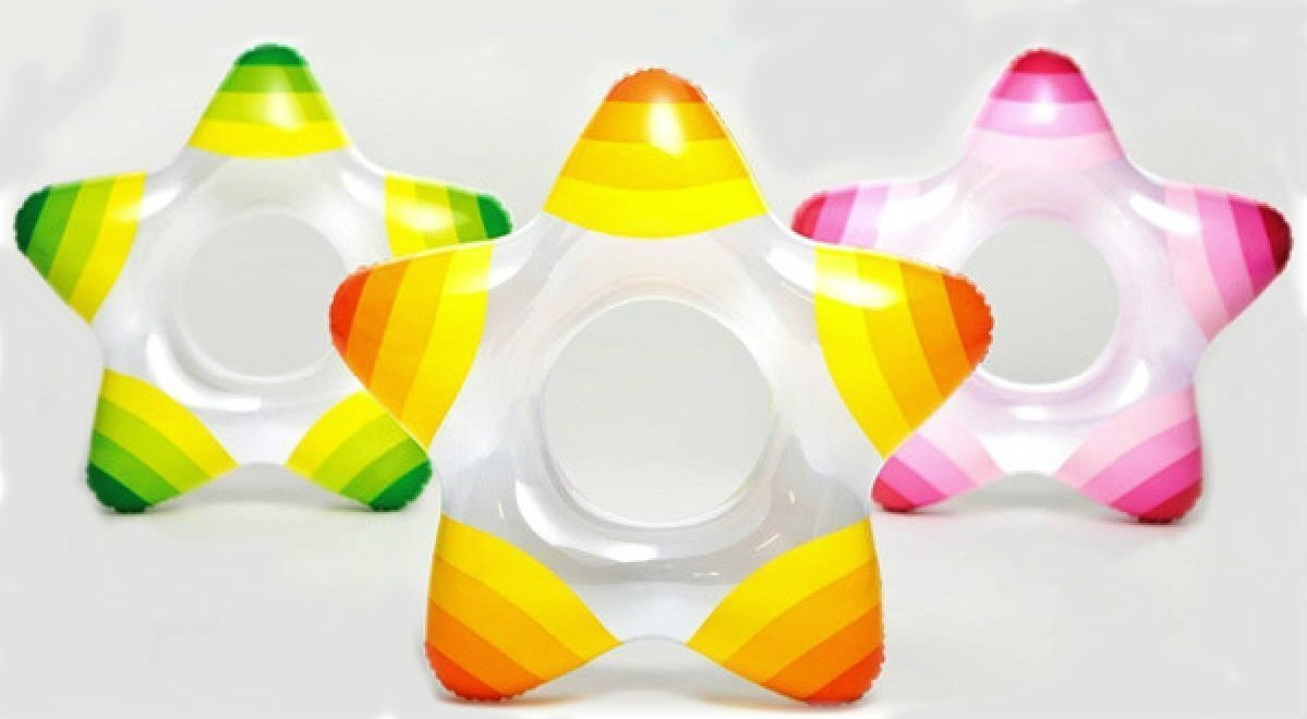 Intex Inflatable Star Shape Swim Rings ~ Choose Color (Pink) - PlayKreative.com