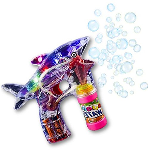 Play Kreative SHARK Light Up Bubble Gun Blaster Toy - Flashing Led Lights, Batte - PlayKreative.com