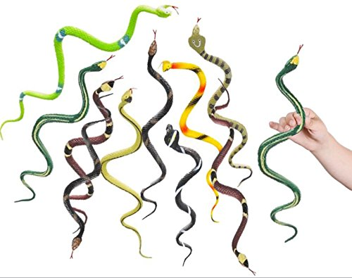 "Play Kreative 14"" Rain Forest Toy Rubber Snakes - 12 Pack - PlayKreative.com"