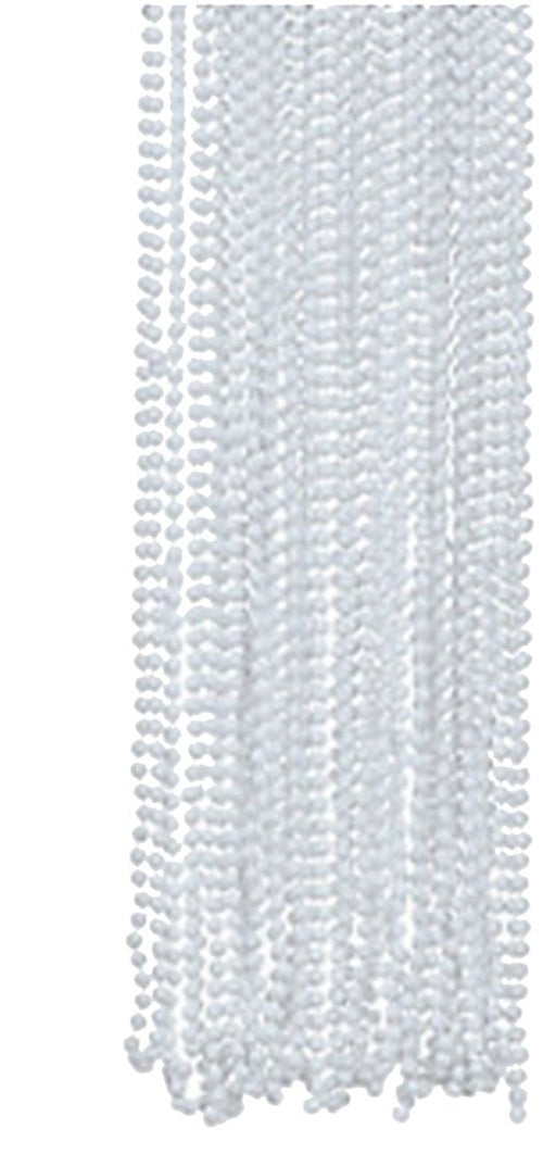 Play Kreative White Metallic Bead Necklaces -12 pk - PlayKreative.com