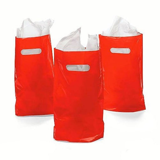 Play Kreative Red Treat / Goody Plastic Bags ~ Party Favor - Pack of 50 - PlayKreative.com