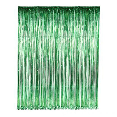 Green Tinsel Foil Fringe Curtain - Play Kreative TM - PlayKreative.com