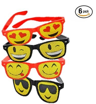 Play Kreative Emoji Mesh Sunglasses - 6 Pack - PlayKreative.com