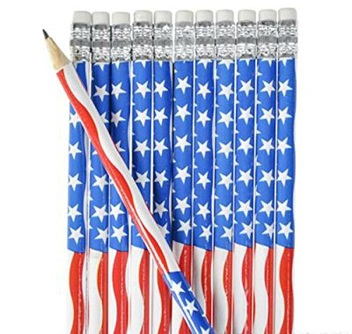 Play Kreative American Flag Pencil- 12pk - PlayKreative.com