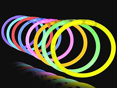 Play Kreative Kids 8 Inch Light-up Colorful Glow Stick Bracelets - Pack of 50 Gl - PlayKreative.com