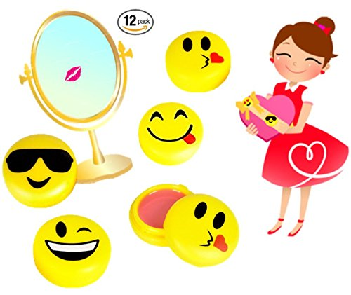 Play Kreative Emoji Lip Gloss - 12 Emoticon Girls Lip Balm  Great Birthday Favor - PlayKreative.com