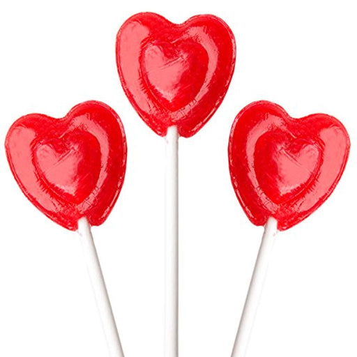 Valentines Day Red Heart Lollipops - 1 Bag