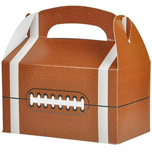 Play Kreative Football Gable Treat Box - Pack of 12 - PlayKreative.com