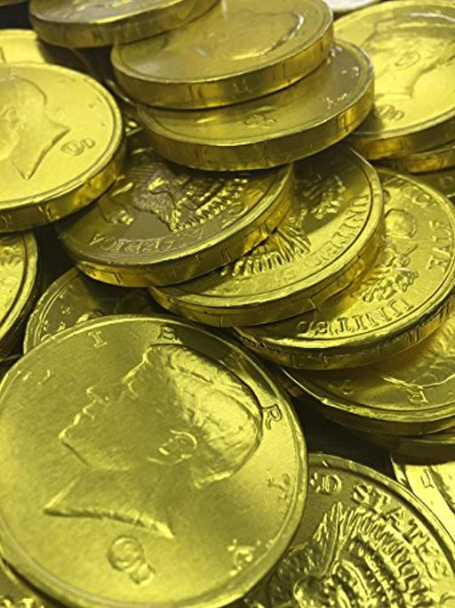 Gold Chocolate Coins - 1b
