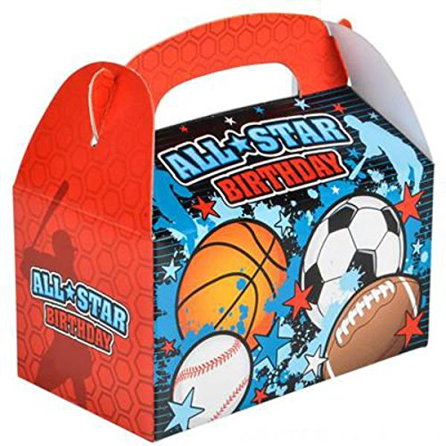 Play Kreative All Star Birthday Gable Treat Box - Pack of 12 - PlayKreative.com