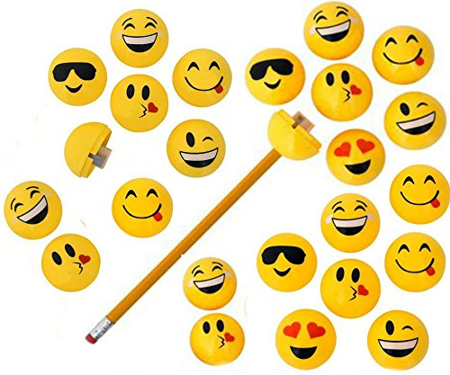 Emoji Pencil Sharpeners - 24 pack - Play Kreative TM - PlayKreative.com