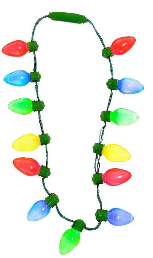 "16"" Light up Christmas Bulb Necklace - PlayKreative.com"
