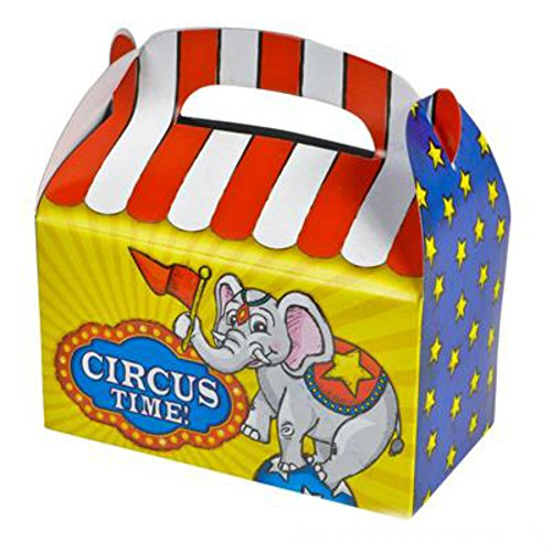 Play Kreative Circus Gable Treat Box - Pack of 12 - PlayKreative.com