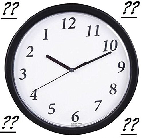 "Play Kreative 9"" Backwards Wall Joke Clock - Novelty Gag Joke Office Decor rever - PlayKreative.com"