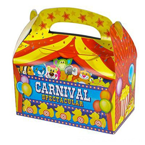 Play Kreative Carnival Gable Treat Box - Pack of 12 - PlayKreative.com