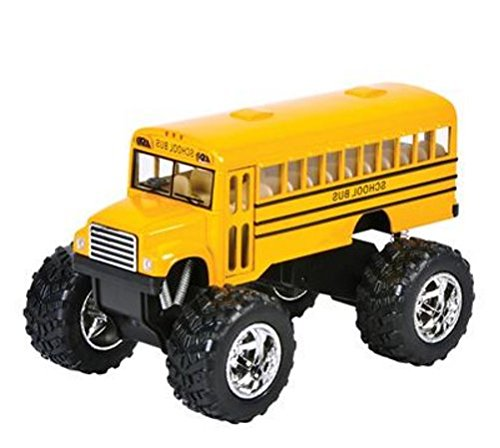 "Play Kreative Monster Pull-Back School Bus 5"" - Kids Bus with Pull Back Action - - PlayKreative.com"