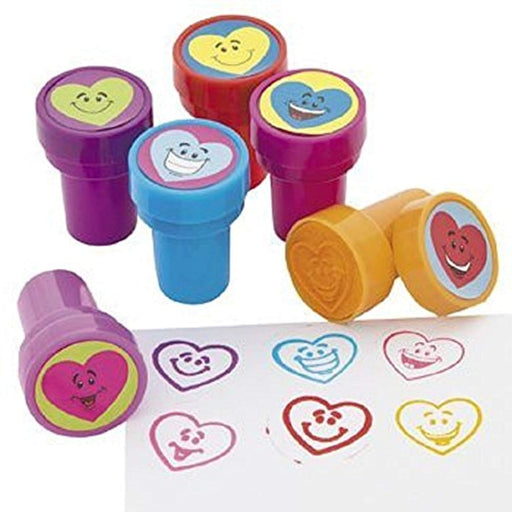 Valentine Heart Smile Face Stampers - 6 Pieces