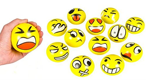 Emoji Face Squeeze Balls - Play Kreative TM - PlayKreative.com