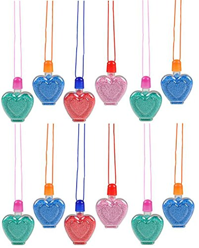 Play Kreative Sand Art Heart Necklaces  - Pack of 12 - PlayKreative.com