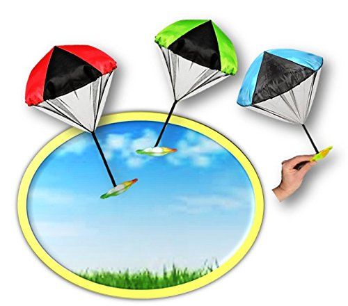 Light Up Flying Glider Parachute toy - Play Kreative TM - PlayKreative.com