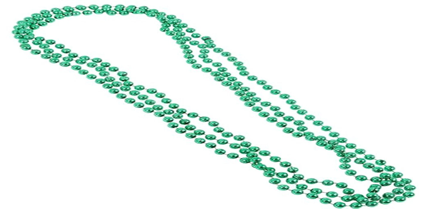 Play Kreative Green Metallic Bead Necklaces -12 pk - PlayKreative.com