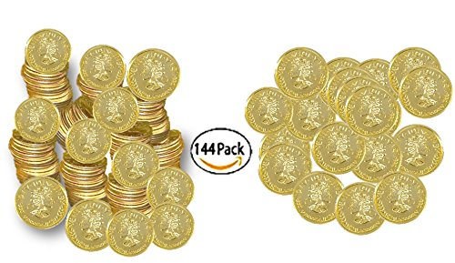 Play Kreative Plastic Gold Coins - Fake Money Party Favors - PlayKreative.com