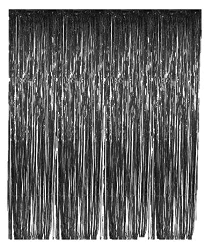 Black Tinsel Foil Fringe Curtain - Play Kreative TM - PlayKreative.com