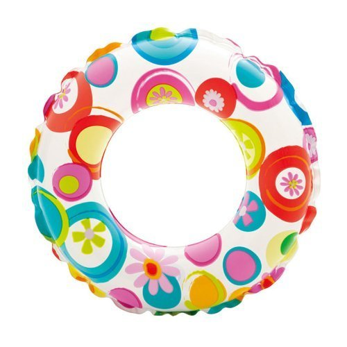 "Intex Lively Floral Print Inflatable Swim Ring / Pool Tube / Raft 20"" - PlayKreative.com"