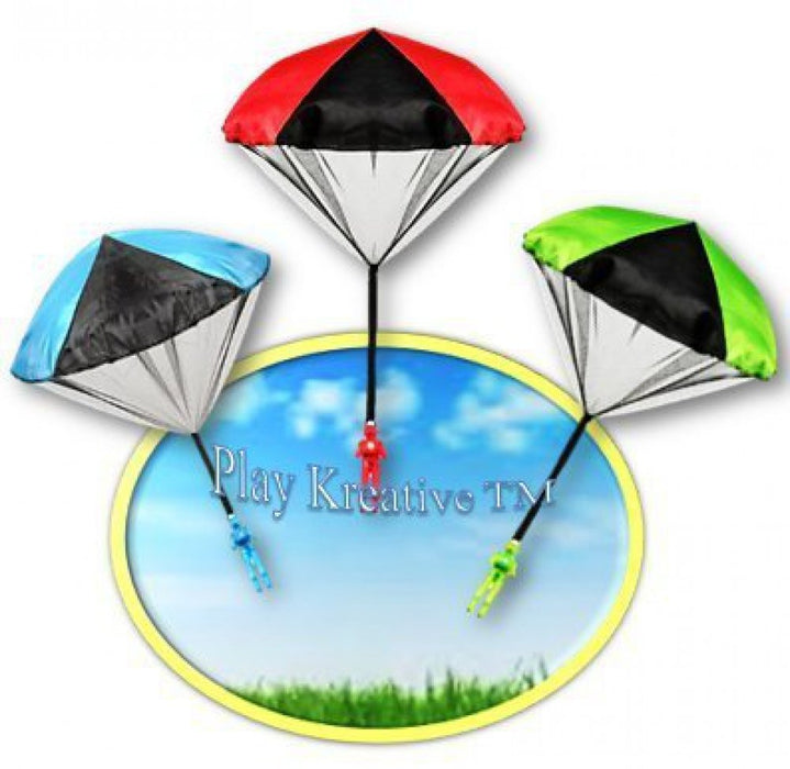 Light Up Paratrooper Parachute - Kids Tangle Free Hand Throwing Parachute Action - PlayKreative.com