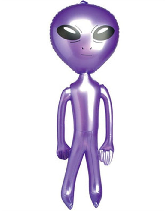 Jumbo Alien Inflate - 5 feet Giant Inflatable Alien Balloon - Huge 60 Inch Party Balloons - Play Kreative TM (Purple) - PlayKreative.com