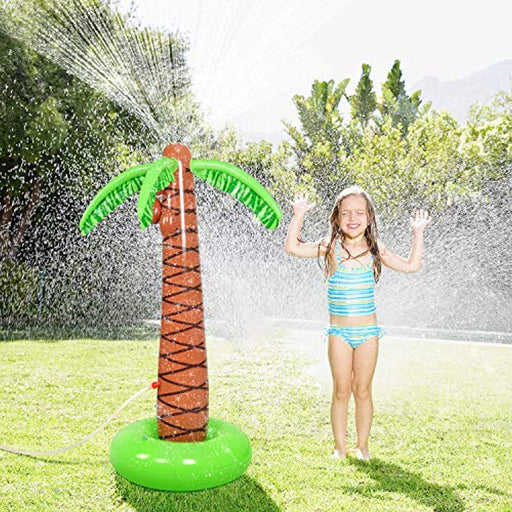 Inflatable Palm Tree Kids Water Play Sprinkler
