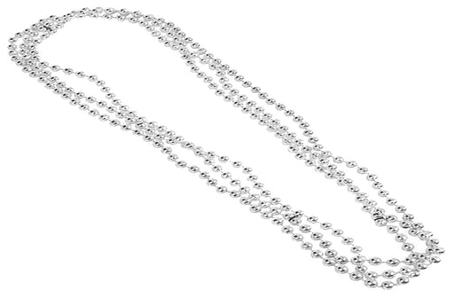 Play Kreative Silver Metallic Bead Necklaces -12 pk - PlayKreative.com
