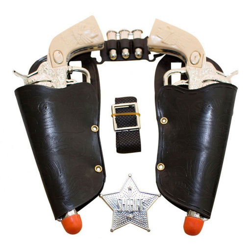 Western Toy Cowboy Gun & Holster Set with Sheriff Badge and Belt - PlayKreative.com