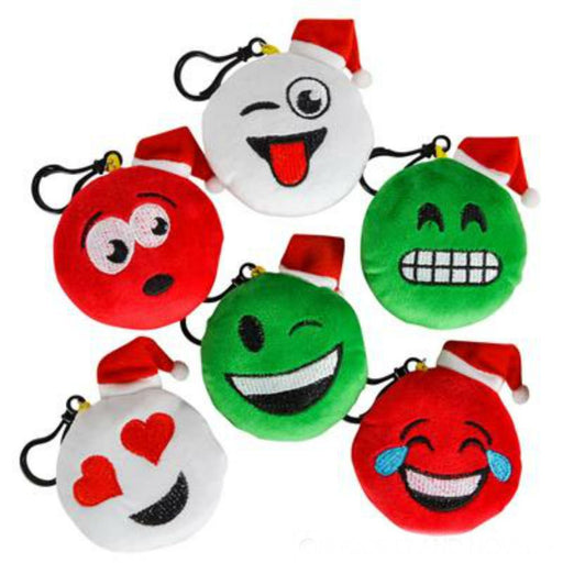 EMOJI Christmas Holiday Plush Clip-On Keychain - Stocking Stuffer - PlayKreative.com