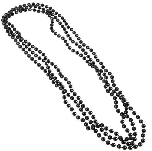 Play Kreative Black Metallic Bead Necklaces -12 pk - PlayKreative.com