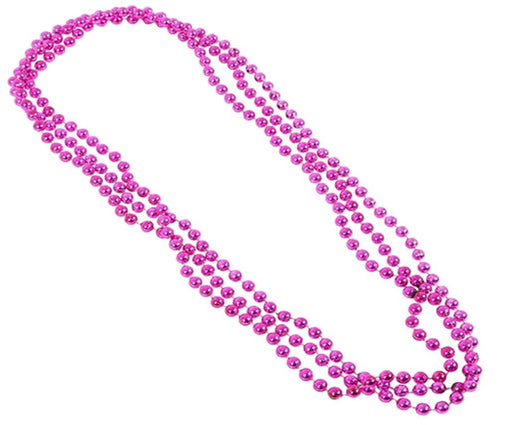 Play Kreative Pink Metallic Bead Necklaces -12 pk - PlayKreative.com