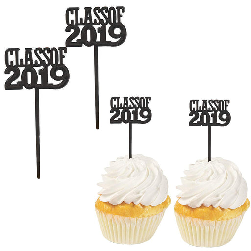 Class of 2019 Graduation Party Decorations - Pack of 72 Cupcake Picks