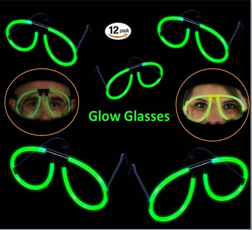 Play Kreative Glow Stick Eye Glasses - 12 Glowsticks to Make Glasses - Glow In T - PlayKreative.com